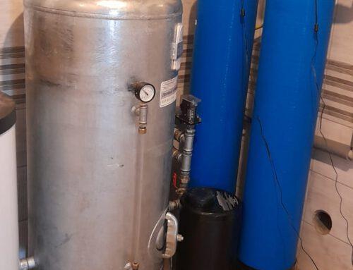 Montaż odżelaziacza wody + korekta pH + hydrofor 300l