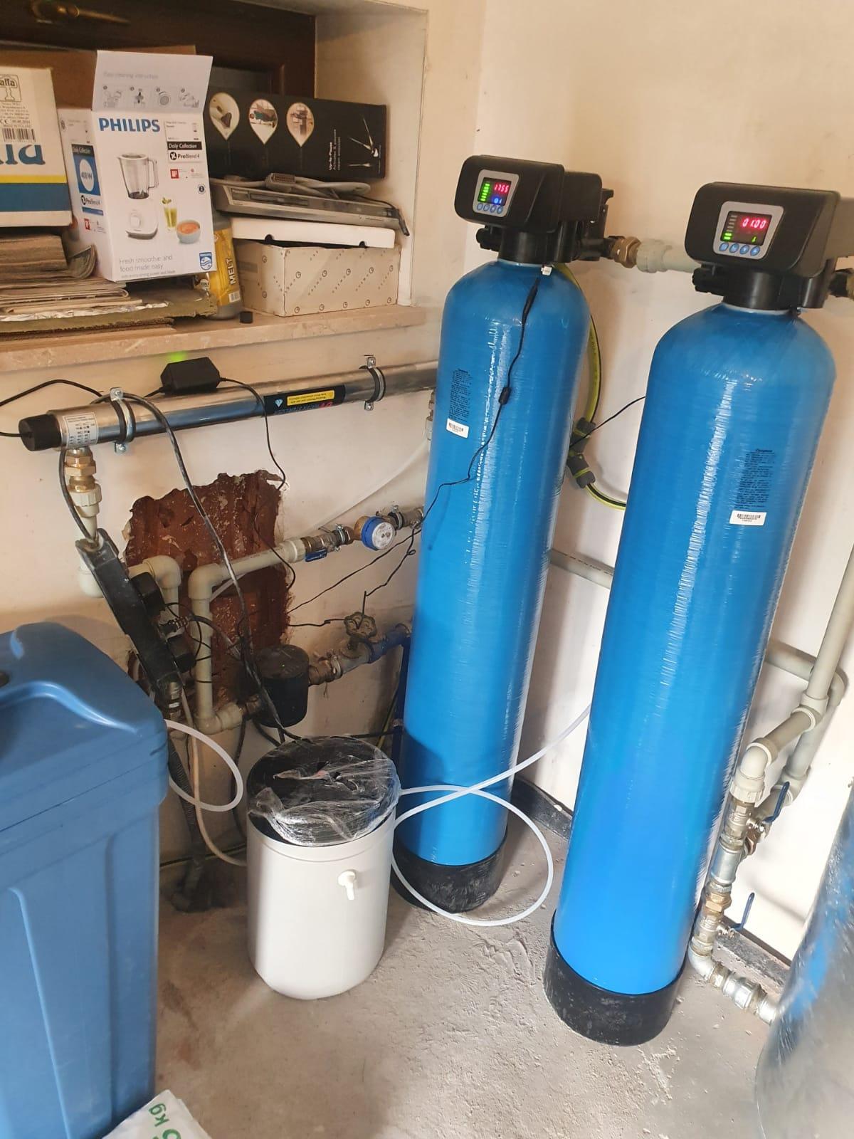 Montaż lampy UV, zmiękczacza i odżelaziacza wody w Krakowie